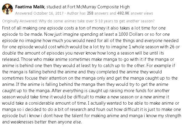 Anime New Season Answer on Quora